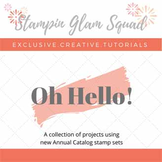Stampin Glam Squad Oh Hello Tutorial Bundle Shop for Stampin Up with Sara Levin at theartfulinker.com