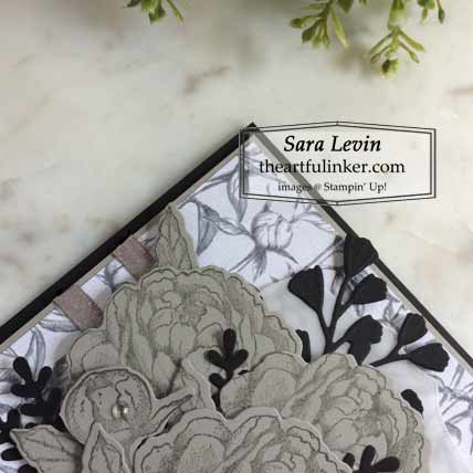 Prized Peony in Gray Granite with Forever Flourishing detail Shop for Stampin Up with Sara Levin at theartfulinker.com