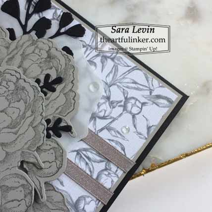 Prized Peony in Gray Granite with Hippo and Friends die layer Shop for Stampin Up with Sara Levin at theartfulinker.com