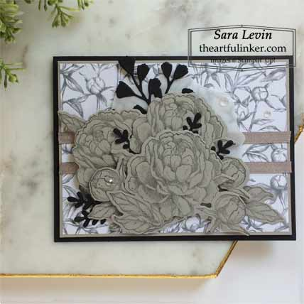 Prized Peony in Gray Granite Shop for Stampin Up with Sara Levin at theartfulinker.com
