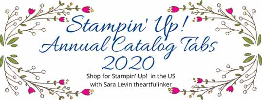 Stampin Up Annual Catalog 2020 tabs Shop for Stampin Up with Sara Levin at theartfulinker.com