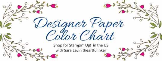 Stampin Up Designer Paper Color Chart Shop for Stampin Up with Sara Levin at theartfulinker.com