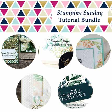Stampin Up Forever Fern Tutorial Bundle from Stamping Sunday Shop for Stampin Up with Sara Levin at theartfulinker.com