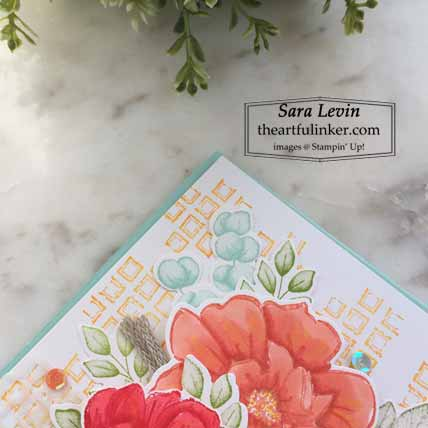 Tasteful Touches Forever Fern with texture card,detail Shop for Stampin Up with Sara Levin at theartfulinker.com