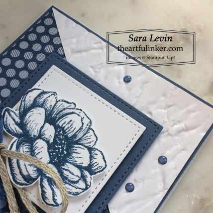 Tasteful Touches in Misty Moonlight card, detail Shop for Stampin Up with Sara Levin at theartfulinker.com