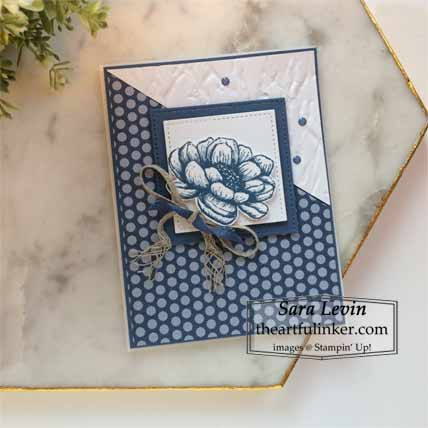 Tasteful Touches in Misty Moonlight card Shop for Stampin Up with Sara Levin at theartfulinker.com