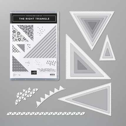 Stampin Up The Right Triangle Bundle Shop for Stampin Up with Sara Levin at theartfulinker.com