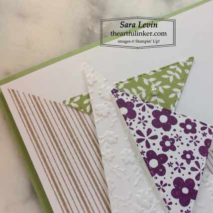 Stampin Up The Right Triangle Hey Friend card detail Shop for Stampin Up with Sara Levin at theartfulinker.com