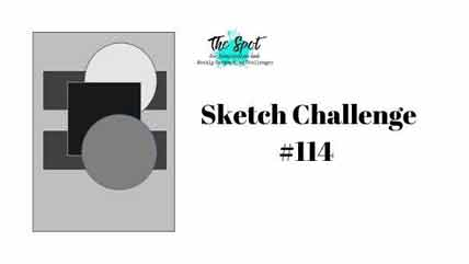 The Spot Creative Challenge 114 sketch Shop for Stampin Up with Sara Levin at theartfulinker.com