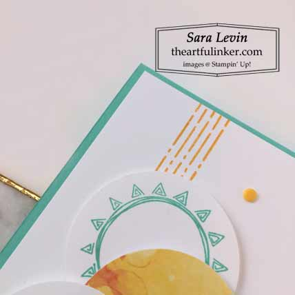 Box of Sunshine alternative card detail for June 2020 Paper Pumpkin kit Shop for Stampin Up with Sara Levin at theartfulinker.com