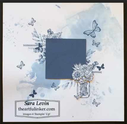 Stampin Up Jar of Flowers scrapbook layout theme for Scrapbooking Global July 2020 Blog Hop Shop for Stampin Up with Sara Levin at theartfulinker.com