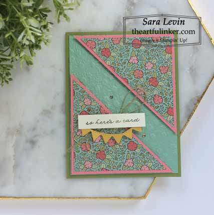 Ornate Thanks split angle card Shop for Stampin Up with Sara Levin at theartfulinker.com