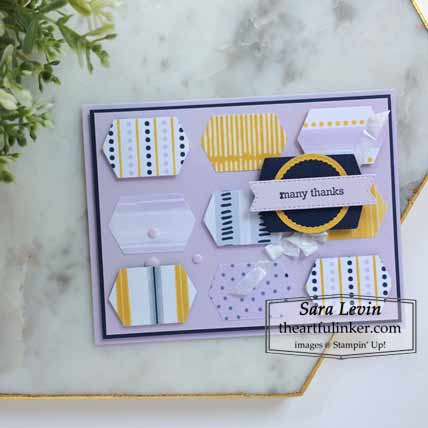 Playing with Patterns Designer Paper card Shop for Stampin Up with Sara Levin at theartfulinker.com