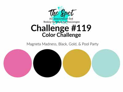 Stampin Up color combo for The Spot Creative Challenge 119