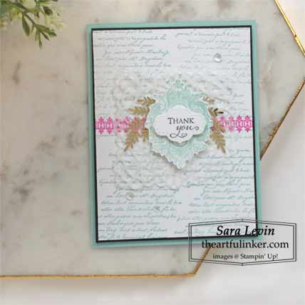 Very Versailles for The Spot Creative Challenge 119 Shop for Stampin Up with Sara Levin at theartfulinker.com