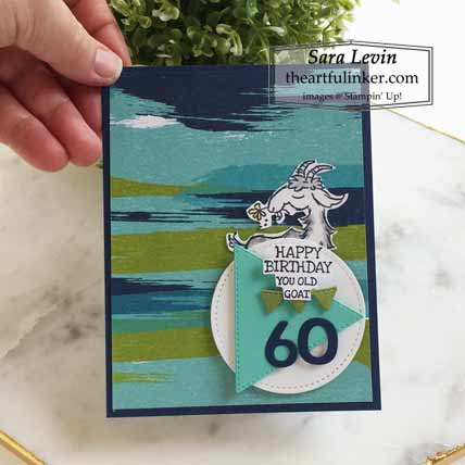 Stampin Up Way To Goat Pop Up masculine birthday card Shop for Stampin Up with Sara Levin at theartfulinker.com