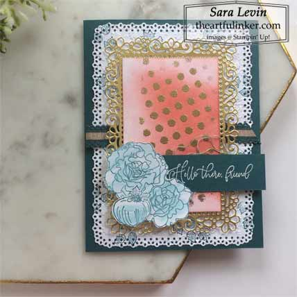 Stampin Up Autumn Greetins with embossed details card Shop for Stampin Up with Sara Levin at theartfulinker.com
