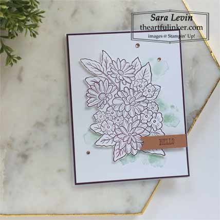 Clean and Simple Ornate Style card Shop for Stampin Up with Sara Levin at theartfulinker.com