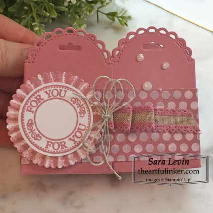 Stampin Up double Little Treat Box favor Shop for Stampin Up with Sara Levin at theartfulinker.com