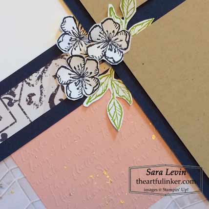 Stampin Up Free as a Bird scrapbook page with Scripty 3D embossing and shimmer paint splatter for Scrapbooking Global August 2020 Blog Hop Shop for stampin Up with Sara Levin at theartfulinker.com