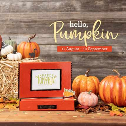Subscribe to Paper Pumpkin for Hello Pumpkin September 2020 Paper Pumpkin kit with Sara Levin at theartfulinker.com