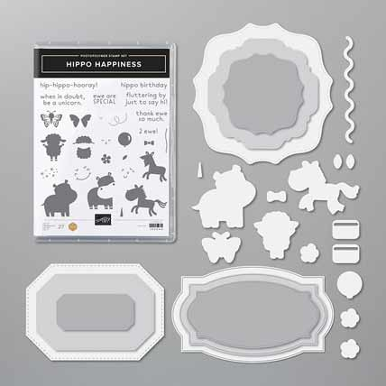 Stampin Up Hippo Happiness Bundle Shop for Stampin Up with Sara Levin at theartfulinker.com