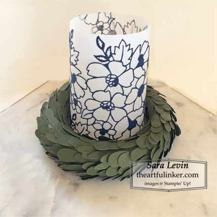 Many Layered Blossoms votive holder for Home Decor SU Style Blog Hop August 2020 Shop for Stampin Up with Sara Levin at theartfulinker.com