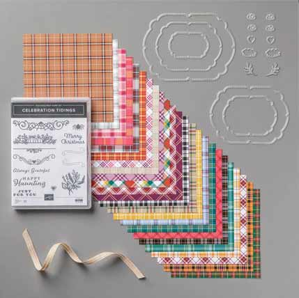 Stampin Up Plaid Tidings Suite Shop for Stampin Up with Sara Levin theartfulinker.com
