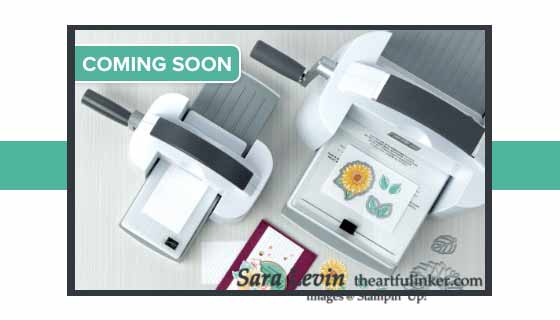New Stampin Cut and Emboss Machine from Stampin Up Shop with Sara Levin at theartfulinker.com