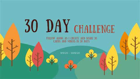Stampin Up 30 day challenge header