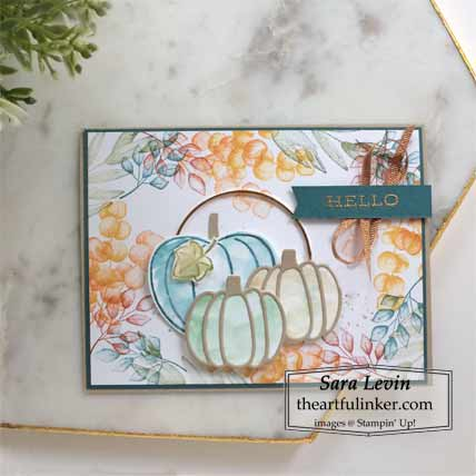 Stampin Up Forever Fern Harvest Hellos card Shop for Stampin Up with Sara Levin theartfulinker.com