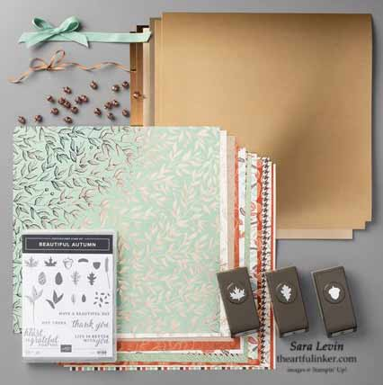 Stampin Up Gilded Autumn Suite Shop for stampin up with sara Levin at theartfulinker.com