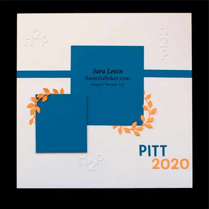 Pitt graduation scrapbook layout for Scrapbooking Global Blog Hop September 2020 Shop for Stampin Up with Sara Levin at theartfulinker.com