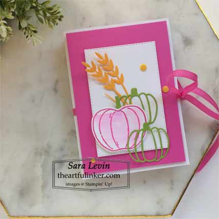 Stampin Up Harvest Hellos accordion card Shop for Stampin Up with Sara Levin at theartfulinker.com