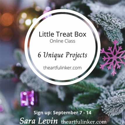 Stampin Up Little Treat Box Online Class Shop for Stampin Up with Sara Levin at theartfulinker.com