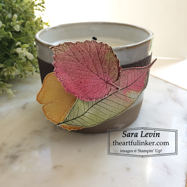 Stampin Up Loyal Leaves candle wrap for Home Decor SU Style September 2020 Blog Hop