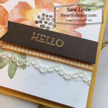 Multi colored Blossoms in Bloom Fall card sentiment detail Shop for Stampin Up with Sara Levin at theartfulinker.com