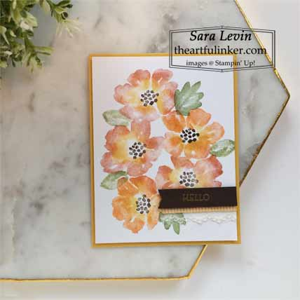 Learn how to make this multi colored Blossoms in Bloom fall card Shop for Stampin Up with Sara Levin at theartfulinker.com