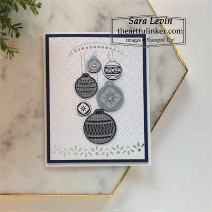 Stampin Up Ornamental Envelopes avid stamping Christmas card Shop for Stampin Up with Sara Levin at theartfulinker.com