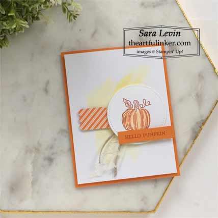 September 2020 Paper Pumpkin Hello Pumpkin alternative card for A Paper Pumpkin Thing Blog Hop Subscribe to Paper Pumpkin with Sara Levin http://bit.ly/2LCixCw