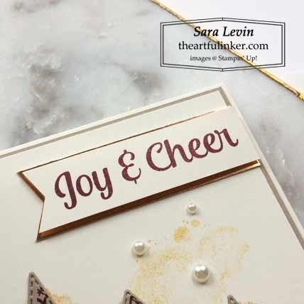 Stampin Up Tree Angle clean and simple Christmas card sentiment Shop for Stampin Up with Sara Levin at theartfulinker.com