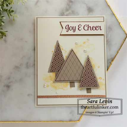 Stampin Up Tree Angle clean and simple Christmas card Shop for Stampin Up with Sara Levin at theartfulinker.com