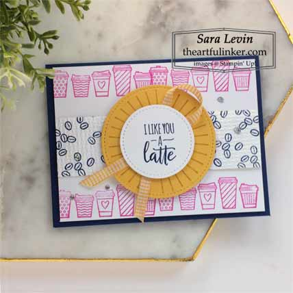 Stampin Up Warm Hugs Press On National Coffee Day card Shop for Stampin Up with Sara Levin at theartfulinker.com
