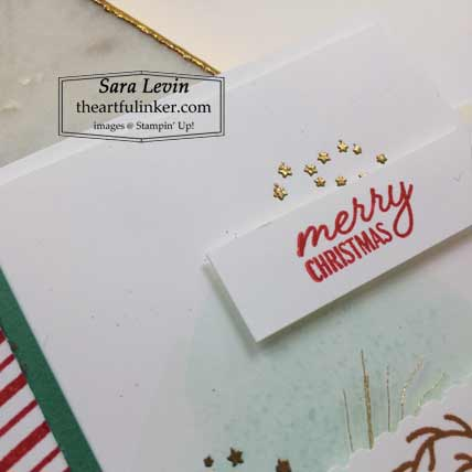 Stampin Up Festive Post Christmas Card detail with a matching gift or favor Shop for Stampin Up with Sara Levin at theartfulinker.com