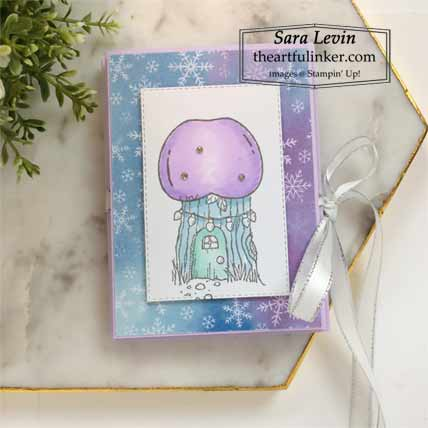 Stampin Up Gnome for the Holidays Accordion Card for Stamping Sunday Blog Hop Mini Designer Paper