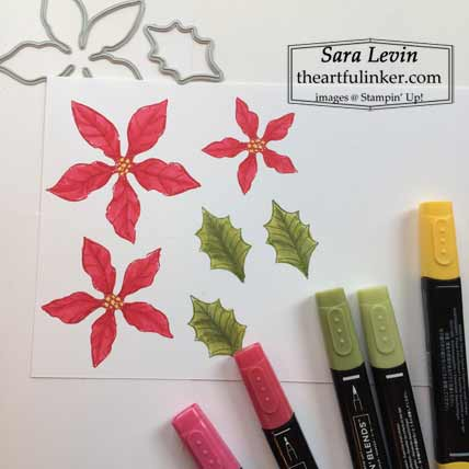 Home decor with Heartwarming Hugs with Poinsettia Petals step 4 for Home Decor SU Style Blog Hop October 2020