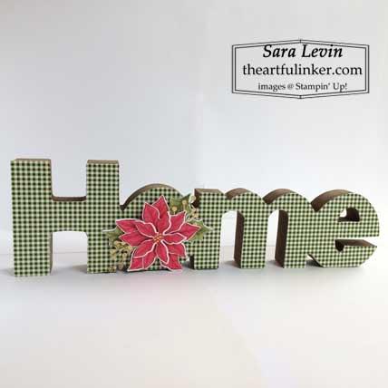Home decor with Heartwarming Hugs with Poinsettia Petals for Home Decor SU Style Blog Hop October 2020