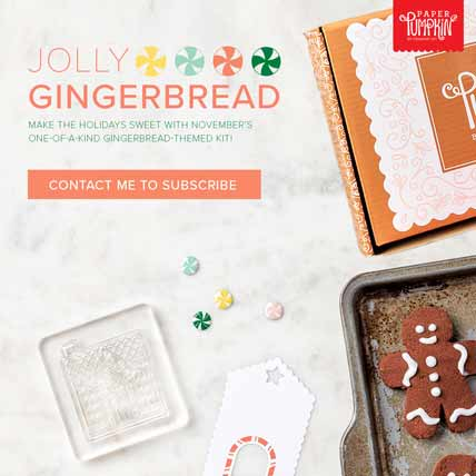 Jolly Gingerbread November 2020 Paper Pumpkin Subscribe to Paper Pumpkin with Sara Levin theartfulinker.com