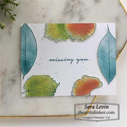 Stampin Up Loyal Leaves Floating Frame card Shop for stampin up with Sara Levin at theartfulinker.com