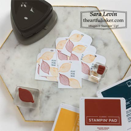 Rooted in Nature Fall Treat Tags shop for stampin up with Sara Levin at theartfulinker.com
